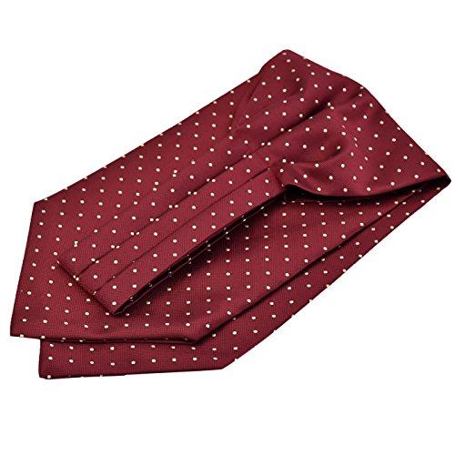 Panegy Herren Krawattenschal Ascotkrawatte Schal Fashion Gentleman Cravat Ties - Gepunktet Rot