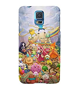 For Samsung Galaxy S5 Mini :: Samsung Galaxy S5 Mini Duos :: Samsung Galaxy S5 Mini Duos G80 0H/Ds :: Samsung Galaxy S5 Mini G800F G800A G800Hq G800H G800M G800R4 G800Y Cartoon, Black, Cartoon and Animation, Printed Designer Back Case Cover By CHAPLOOS
