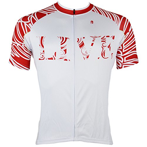 Men's Cycling Jersey Breathable Full-zipper Comfortable Cycling Top For Outdoor Riding Red X-Large (Jersey Riding Sleeve Shirt)