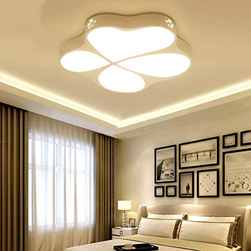 GWFVA Kinder Beleuchtung Deckenleuchte Moderne Led Floral Wohnzimmer Restaurant 24 Watt Warmweißes Licht 53X50 cm -