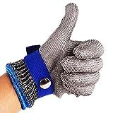 Sicherheits-Schnitt-Beweis-Stich-beständige Edelstahl-Maschen-Metzger-Handschuhe des Edelstahl-316 Hohe Leistungsfähigkeits-Sicherheits-Ausschnitt-Handschuhe für die Küche, die das Holzschnitzen im Freien arbeitet schneidet