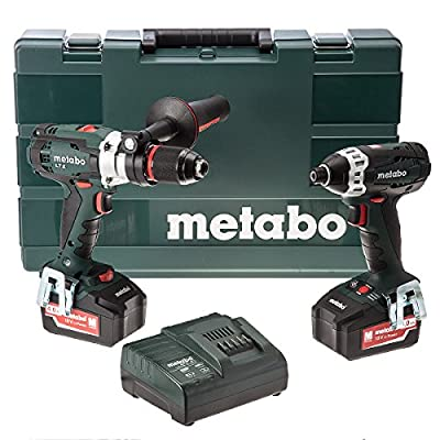 Metabo 6.85058.58 Combo Set 2.1.6/SB 18 LTX/SSD 18LTX/Charger and Carry Case with 2 x 4.0 Ah Batteries