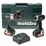 Metabo Combo Set 2.1.6 SB18LTX+SSD18LTX Perceuse visseuse à percussion avec visseuse à chocs/2 batteries 18 V 4 Ah