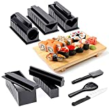 Kit para Hacer Sushi-Sushi Maker Deluxe Exclusive Online Video Tutorials Complete with Sushi Knife 11 Piece DIY Sushi Set