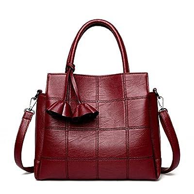 Les femmes en cuir sacs à main Sacs à carreaux femmes grandes marques Designer Rose Sac à bandoulière Femme Sac Dames