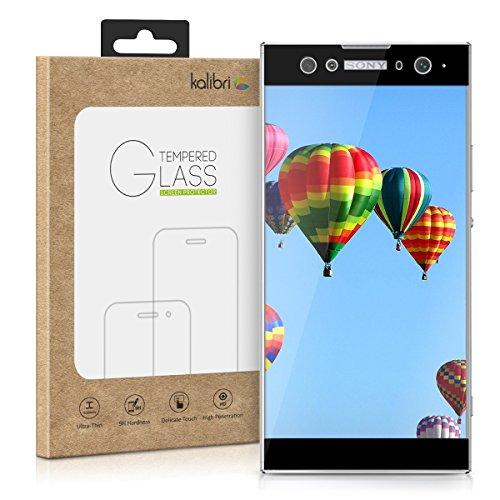 kalibri-Echtglas-Displayschutz-fr-Sony-Xperia-XA2-Ultra-3D-Schutzglas-Full-Cover-Screen-Protector-mit-Rahmen-Glas-Folie-auch-fr-gewlbtes-Display-in-Schwarz