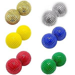 Magnet Akupunktur Akupressur Massage Kugeln | 2er Set | Ø ca. 55mm | 6 verschiedene Farben