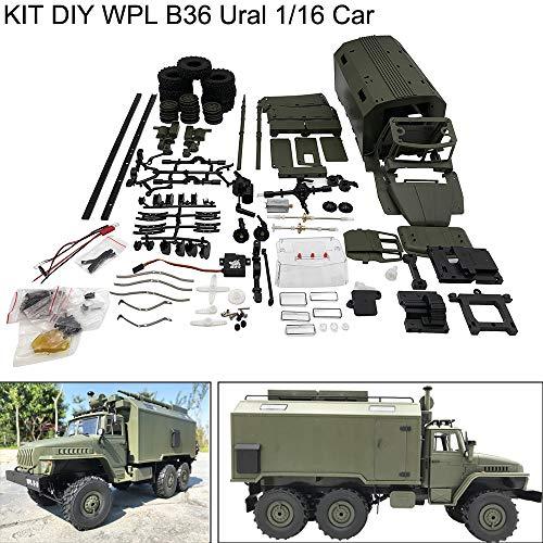 TianranRT WPL B36 Ural 1/16 Kit 2,4G 6WD Elektrisch Offroad Auto Militär LKW RC Crawler Keychain Remote Kit