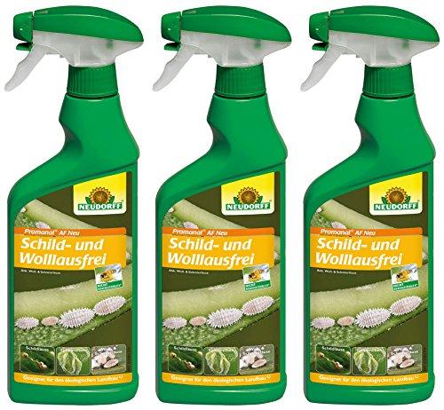 3 x 500 ml Neudorf Promanal AF Neu Schild- und Wolllausfrei, Anwendungsfertig