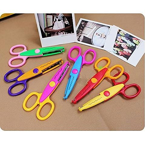 Set von 6Art Craft Bordüre Schere Scallop gewellt Fancy Zackenschere/DIY Design Deko Papier Schneiden Schere