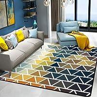 HYRL Alfombra nórdica Abstracta geométrica, 3D Impreso Alfombra de Gran tamaño para casa Moderna Vida Alfombra Espesar Sala de Estar alfombras Arte Decor,#5,140200