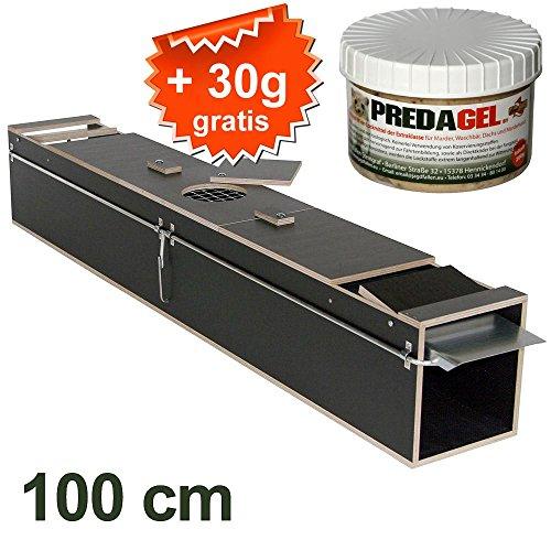 *Marderfalle lebend Tierfalle Lebendfalle Kastenfalle Iltisfalle (100cm) + GRATIS Lockmittel*