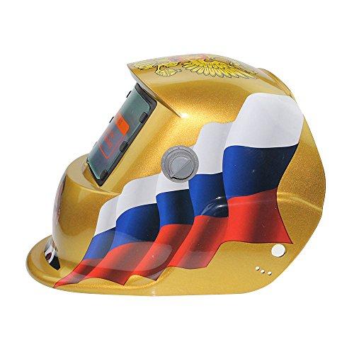 Hanbaili Schweißhelm, Speer des TodesSolar Powered Welding Helm Auto Verdunkelung Hood, für Mig Tig Arc Schweißer Maske Blue Eagle Design