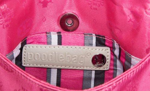 Poodlebags Club - Attrazione - Venezia - 3CL0313VENEP, Pochette donna 25x14x4 cm (L x A x P) Rosa (Pink (pink))