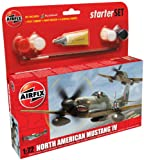 Airfix A55107 1:72 North American P-51d Mustang Military Aircraft Gift Set