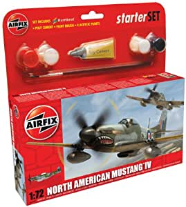 Airfix 1:72 North American P-51d Mustang Military Aircraft Gift Set
