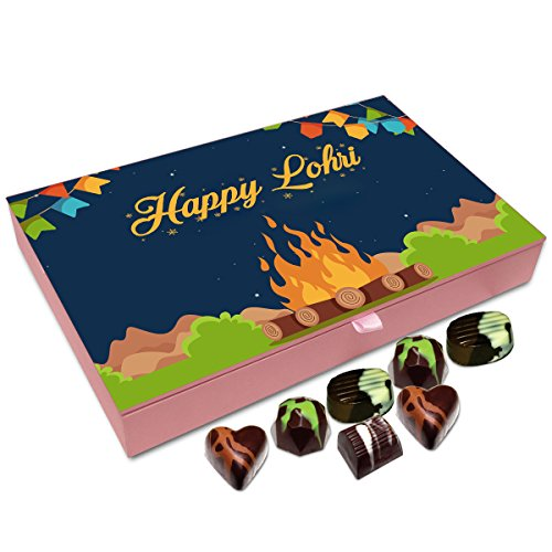 Chocholik Lohri Gift Box - Happy Lohri to All Chocolate Box - 12pc