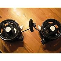 Peg Perego Doppel Hinter Rad schwarz weiß für Pliko P3 compact ab Kollektion 2011