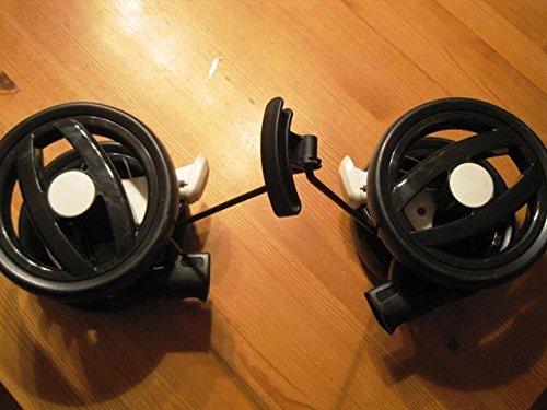 Peg Perego Double Roue arrière Noir et Blanc pour poussette Pliko P3Compact à partir de collection 2011