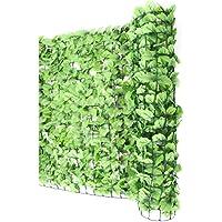 Haie artificielle/brise vue pr balcon, feuilles, 300x100cm