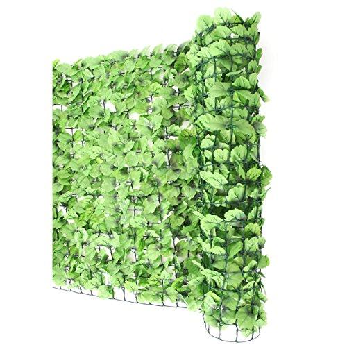 Mendler Sichtschutz Windschutz Verkleidung für Balkon Terrasse Zaun ~ Blatt hell 300 x 150 cm -
