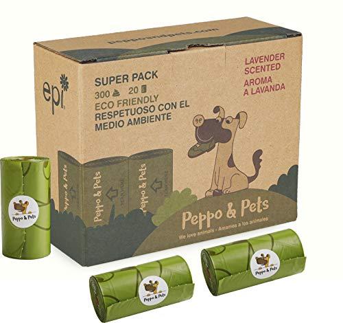 Peppo and Pets  300 Bolsas Caca Perro biodegradables