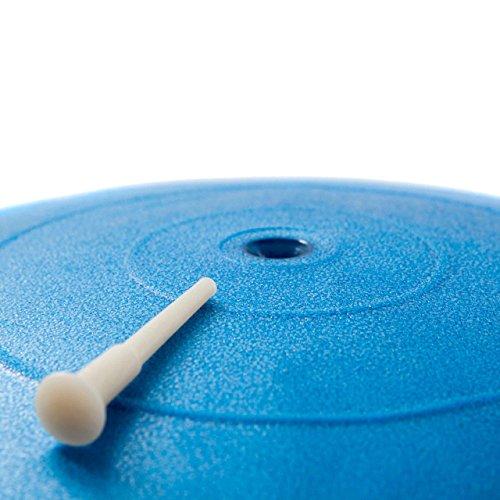 Gymnastikball Sitzball 65 cm, verschiedene Farben, inklusive Handpumpe - 3