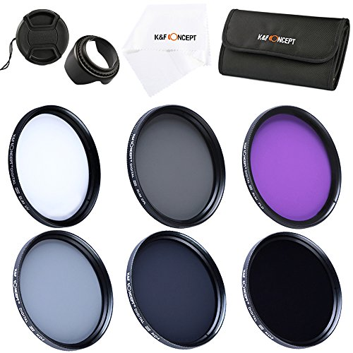 K&F Concept® Objektiv Filterset 72mm UV CPL FLD ND Filter Set 72mm Schutzfilter 72mm Polfilter 72mm mit Gegenlichtblende 72mm Reinigungstuch Filtertasche Objektivdeckel für Canon Nikon Sony DSLR Kamera (Polaroid-kamera-objektiv-filter)