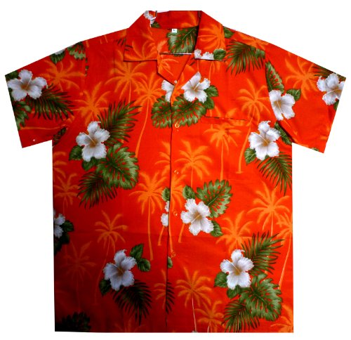 Funky Hawaiihemd XS-6XL Orange