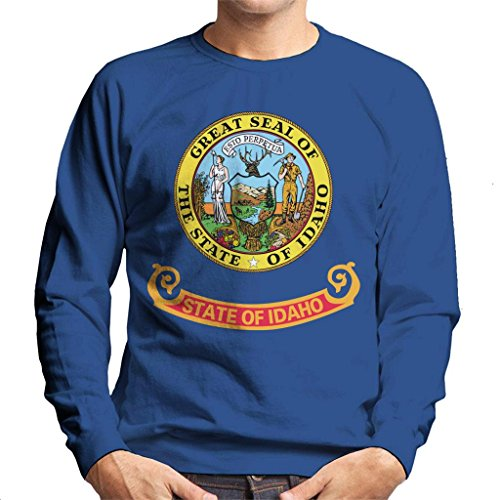 Coto7 Great Seal of The State of Idaho Flag Men's Sweatshirt - Idaho State Seal