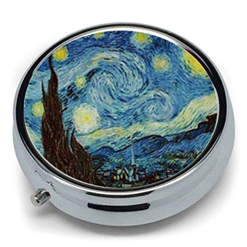 Cyberlee Van Gogh Art Starry - Pastillero Metal Redondo