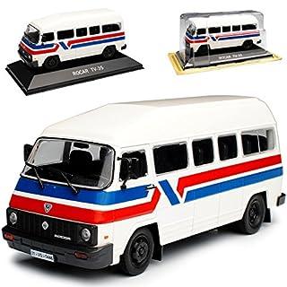 alles-meine.de GmbH Rocar TV-35 Bus Weiss mit Sockel 1/43 Modellcarsonline Modell Auto