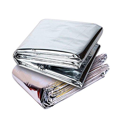 OUNONA 2ST Emergency Survival Blanket Thermofolie Decke Wrme reflektierende Erste-Hilfe-Decken