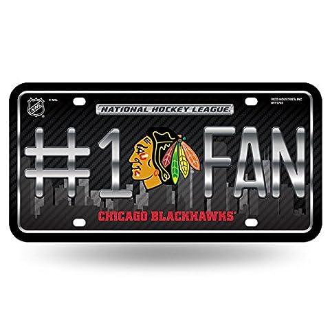NHL # 1Fan en métal Auto Tag, Team Colors, taille unique