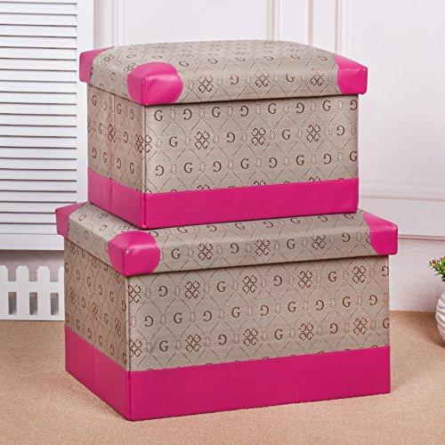 mk-high-end G palabra plegable caja de juguete y de almacenamiento Caja pie taburete de diverso taburete de almacenamiento de mercancías, 49*30*30cm