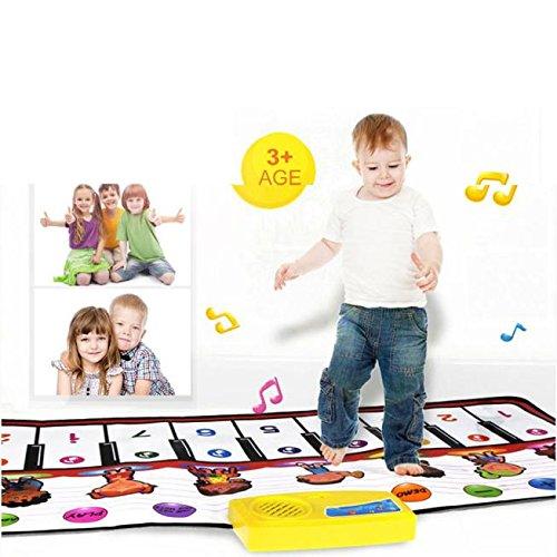 VNEIRW musical Tapis de clavier de piano, Tapis musical, Tapis, Early Education musicale puzzle bébé enfants Jouets, coloré