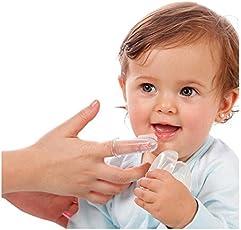 Riyaa's Baby SIlicone Tongue Cleaner (White)