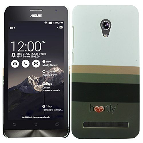 Heartly Strip Style Retro Color Armor Hybrid Hard Bumper Back Case Cover For Asus Zenfone 5 Lite A502CG - Ash Brown  available at amazon for Rs.249
