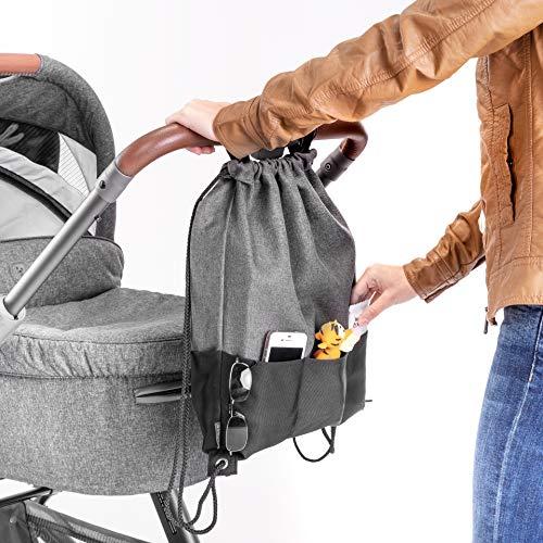 Kinderwagen Clips Taschenclip Befestigung  Klettband Haken Befestigungshaken