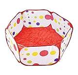 Da.Wa Kinder Aufbewahrungstasche Spielzeug Beweglicher Hexagon Kinder Baby Bällebad Ballpool Pool Bällepool Drinnen für Kindergeschenke (Etwa 0.9 M, Basketball Pool)