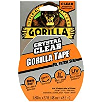 Gorilla 3044701 07164000719 Gaffer & Builders Tapes, Clear, 8.2m