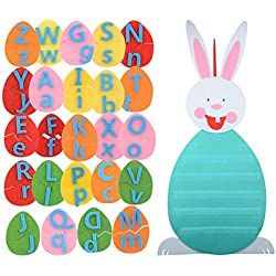 Party DIY Decorations - 100 42cm Happy Eggs Bunny Diy A Z 26 Alphabets Matching Game Kids Educational Toy Gift Decoration - Party Decorations Party Decorations Birthday Bunny Easter Game Doll F