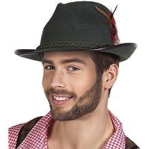 erdbeerclown - Bayerischer filzartiger Hut mit Feder Kostüm, Schwarz