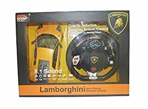 LAMBORGHINI Remote car R/C- Sport Racing Genuine License WITH DANGLING STEER REMOTE (8.1 sound)