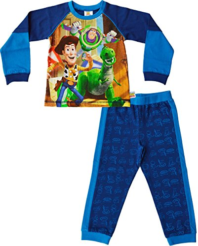 childrens-disney-toy-story-buzz-woody-rex-100-cotton-pyjamas-set2-3-yearsblue