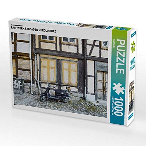 CALVENDO Puzzle FACHWERK FASSADEN QUEDLINBURG 1000 Teile Lege-Größe 64 x 48 cm Foto-Puzzle Bild von Jost Galle