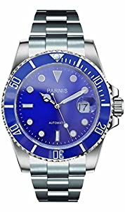 PARNIS 0732066354543 - Reloj para hombres, correa de acero inoxidable de PARNIS