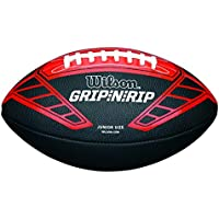 Wilson NFL Grip N Rip Junior Rd American Football, Schwarz/Rot