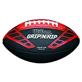 Wilson Palla da football americano, Uso amatoriale, Misura Junior, NFL GRIP N RIP JUNIOR FOOTBALL RD, Nero/Rosso, WTF1608XB