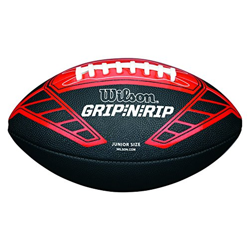 Wilson American Football, Recreational Use, Kids Size, NFL GRIP N RIP JUNIOR FOOTBALL RD, Red/Red, WTF1608XB Test